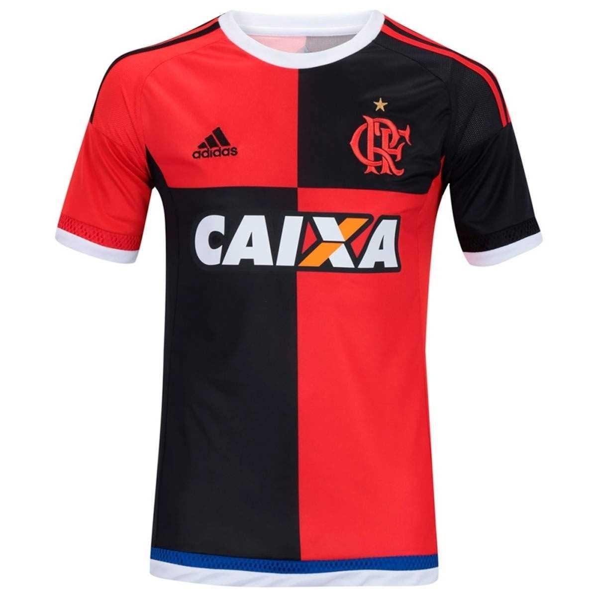 529abc0cd7 camisa oficial adidas flamengo 450 anos preto e vermelho. Carregando zoom.