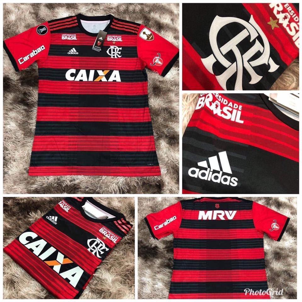 ac37c7d522 camisa oficial adidas flamengo temporada 2018 libertadores. Carregando zoom.