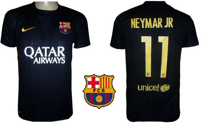 7d4b60c155 Camisa Oficial Barcelona (preta