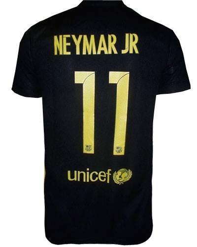 Camisa Oficial Barcelona (preta  e51a31cf8a29b