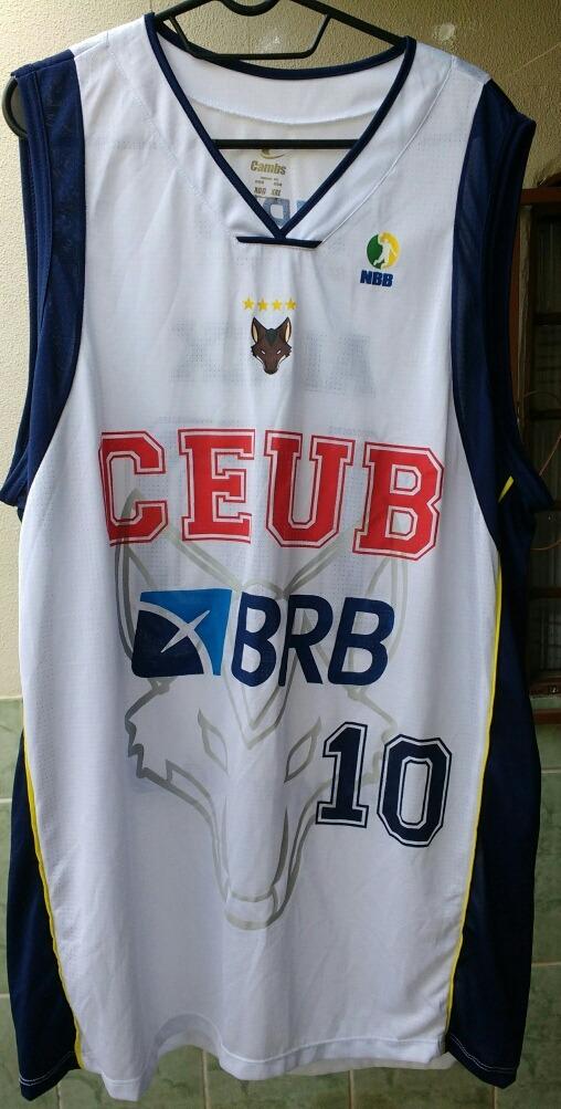 9cc7c3b710 camisa oficial basquete brasilia  10 alex brabo. Carregando zoom.