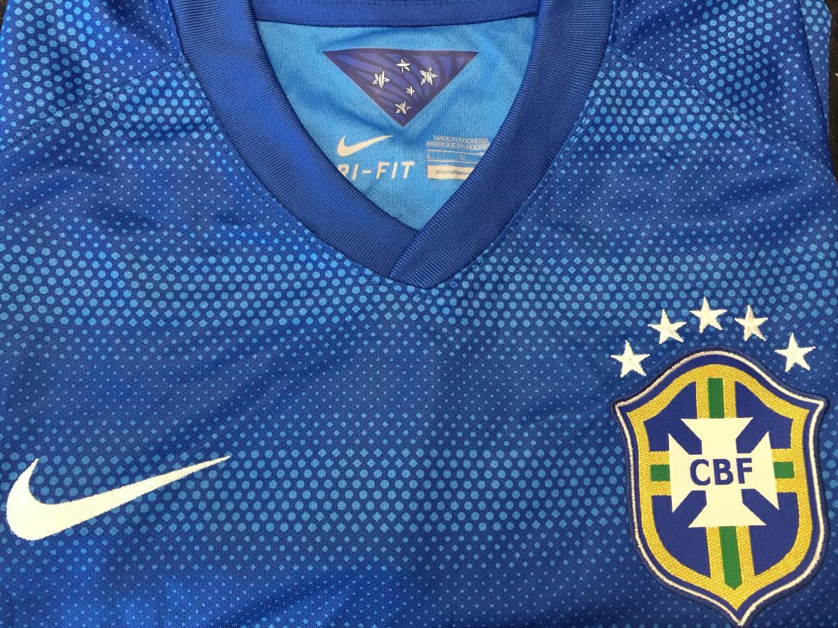 camisa oficial brasil 2014 azul original fifa-nike torcedor. Carregando  zoom. 19c4383d5b574