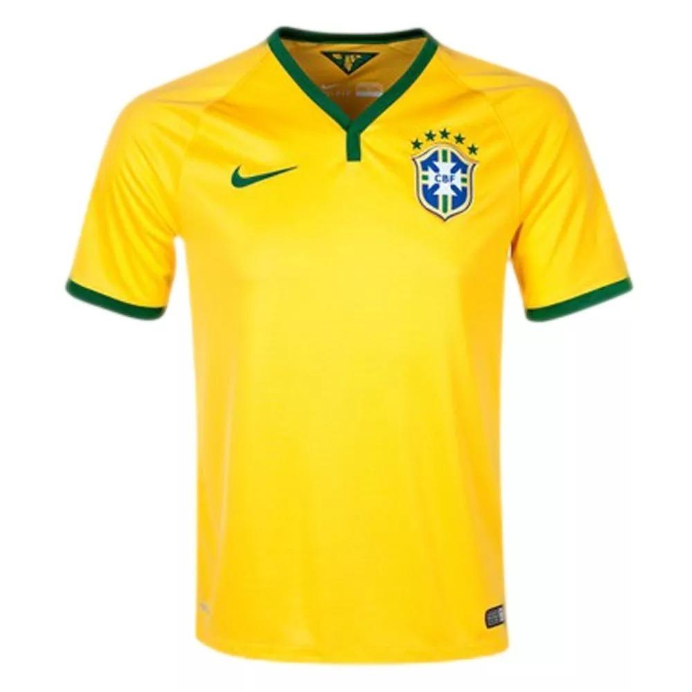 camisa oficial brasil copa 2014 amarela original. Carregando zoom. b752a27ae3049