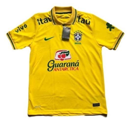 Camisa Oficial Brasil Copa 2014 Amarela Original Fifa - Nike - R ... 22352157315dc