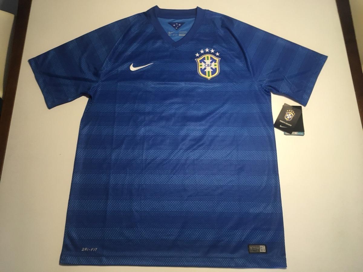 camisa oficial brasil copa 2014 willian azul original nike. Carregando zoom. ead68cbdf8a0d