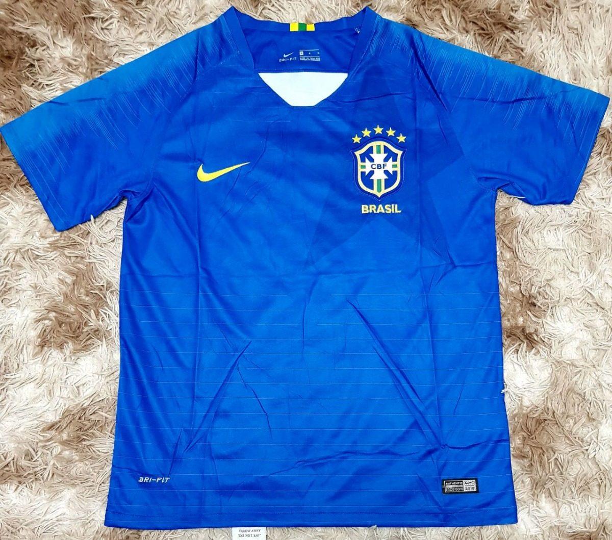 camisa oficial brasil copa 2018 azul original fifa. Carregando zoom. 939aef3b41f69
