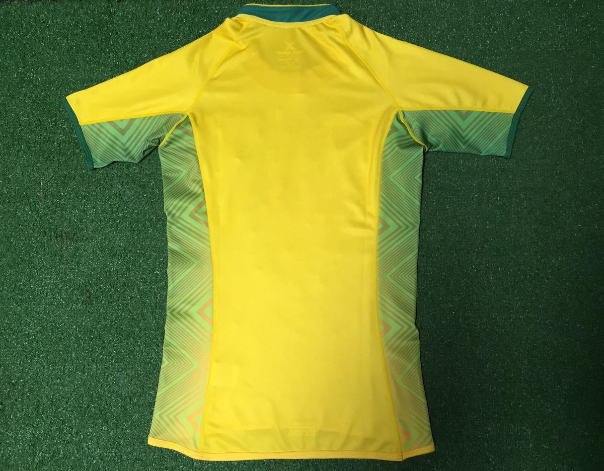 ef70db8a4c camisa oficial brasil rugby - amarela - modelo i. Carregando zoom.