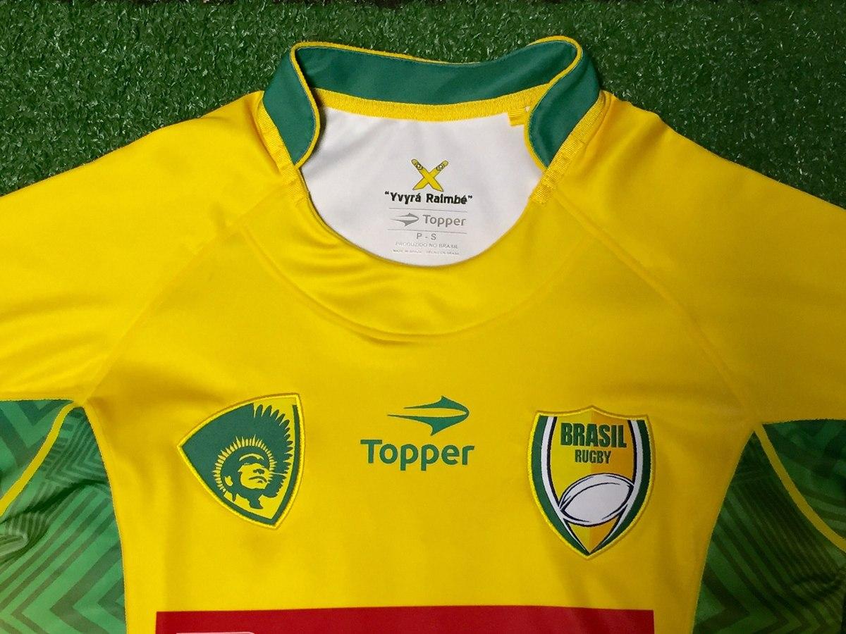 f0e104ae0b026 camisa oficial brasil rugby - amarela - modelo i. Carregando zoom.