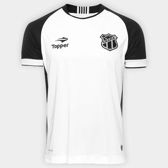 71d18152c933a Camisa Oficial Ceara Topper 2016 2017 Branca S patrocinios - R  150 ...