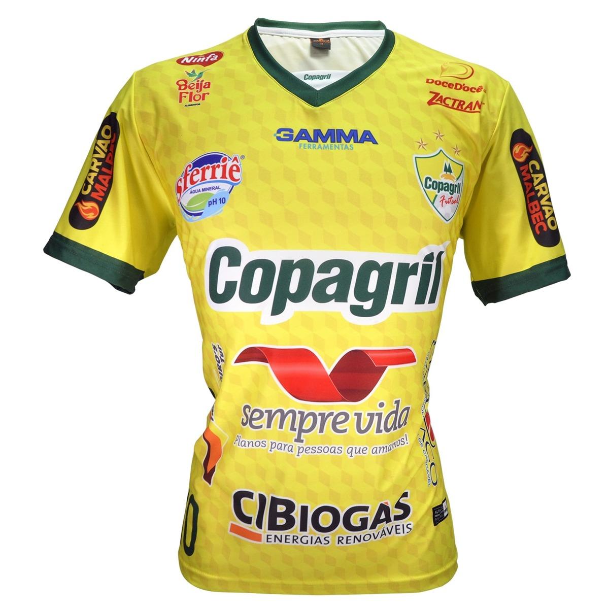 Camisa Oficial Copagril Futsal 2018 Amarela - R  69 e8cc9d046cb11