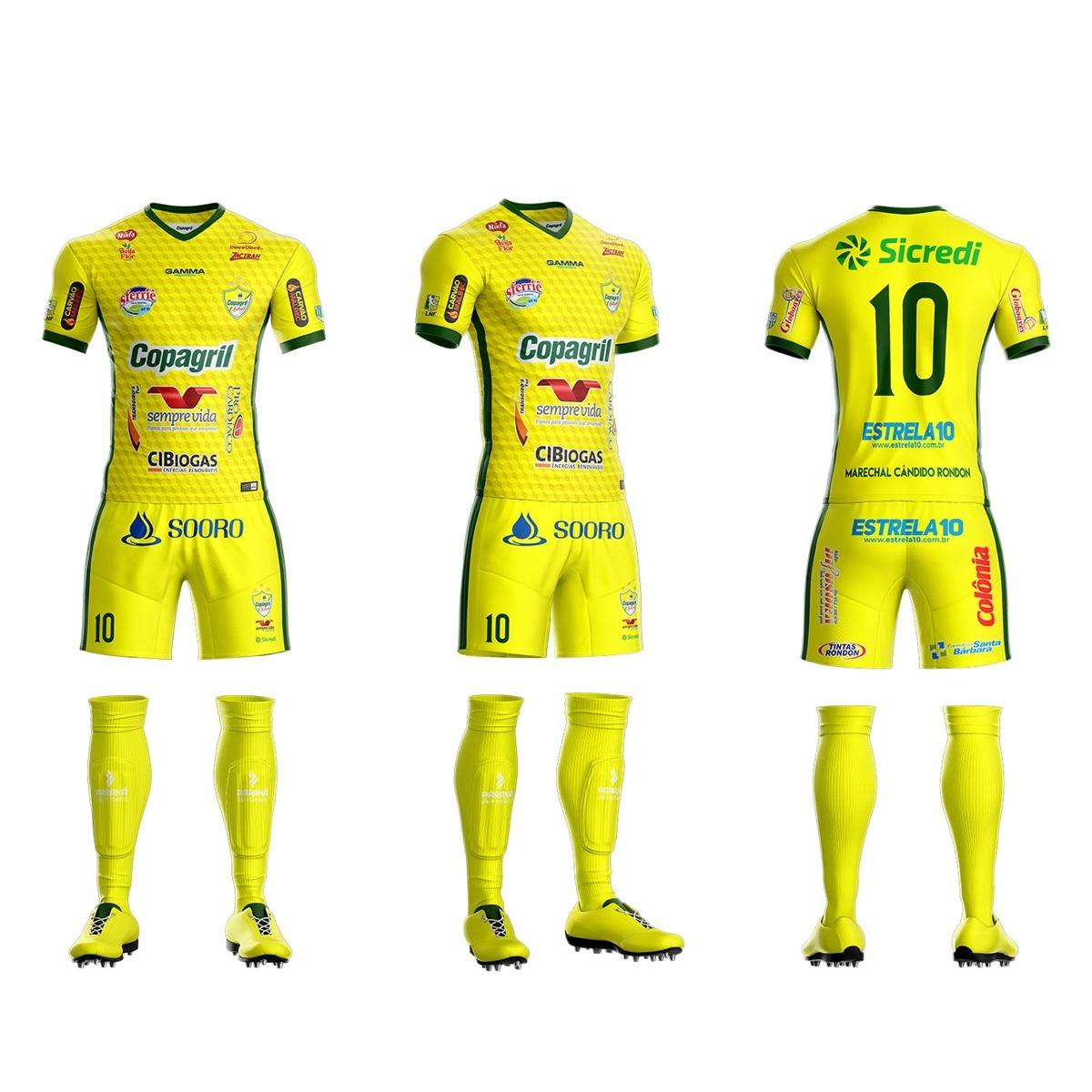 camisa oficial copagril futsal 2018 amarela. Carregando zoom. 8bcc32cb3c123