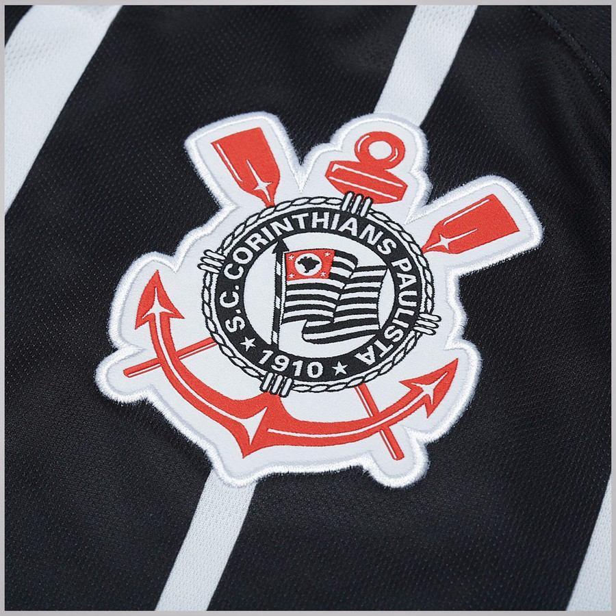 7e32a2197 camisa oficial corinthians 2017 2018 branco preto listrada. Carregando zoom.