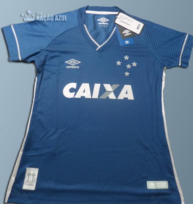 Camisa Oficial Cruzeiro Umbro Feminina - Frete Grátis! - R  169 0000af80acb4e
