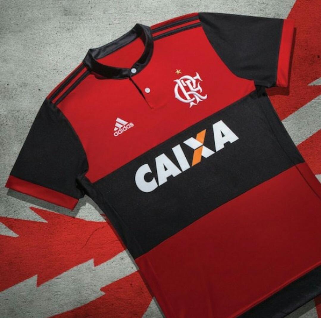 43942417971e3 Camisa Oficial Flamengo 2017-2018 Patch Libertadores - R  125