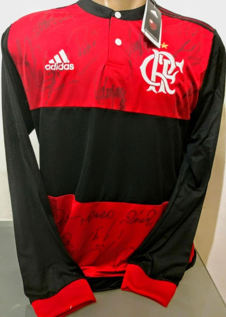 Camisa Oficial Flamengo Autógrafo Todo O Time 2c7b3c84f115f