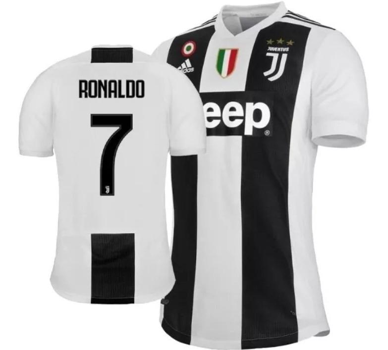 7bddaccd4b333 Camisa Oficial Juventus Preta adidas 2019 Cr7 - Nº 7 Ronaldo - R ...