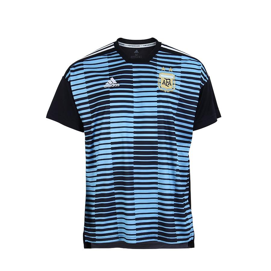 camisa oficial masculina adidas pré-jogo argentina - azul. Carregando zoom. f3df3d041f5ef