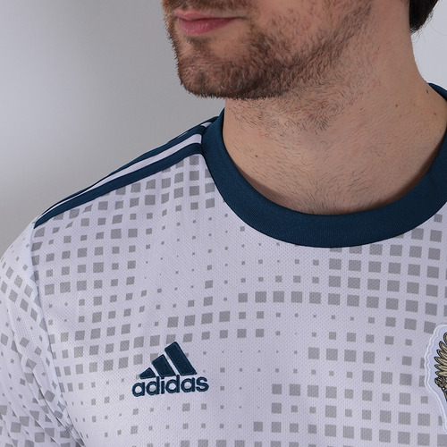 82ae58306b5a2 Camisa Oficial Masculina adidas Rússia Ii 2018 - Branco - R  149