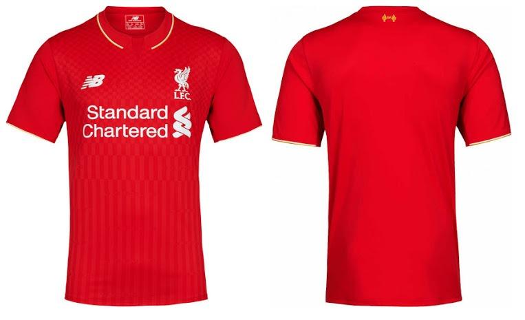 Camisa Oficial New Balance Liverpool 2015 2016 I Jogador - R  79 9c2cd7fc782dd