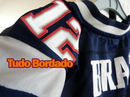 camisa oficial nfl tom brady new patriots futebol americano