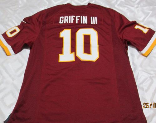 camisa oficial nfl washington #10 rgiii - raridade única