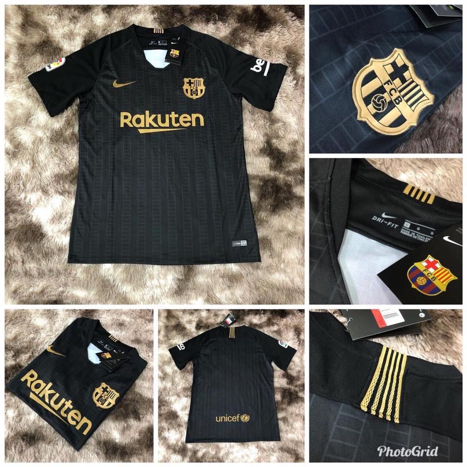 camisa oficial nike barcelona preta temporada 2018 2019. Carregando zoom. acbfd0d46b86b