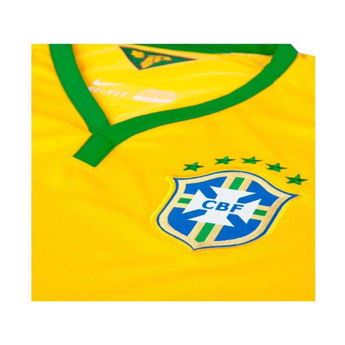 496064da2a780 camisa oficial nike brasil cbf 2014 jogador xgg. Carregando zoom.