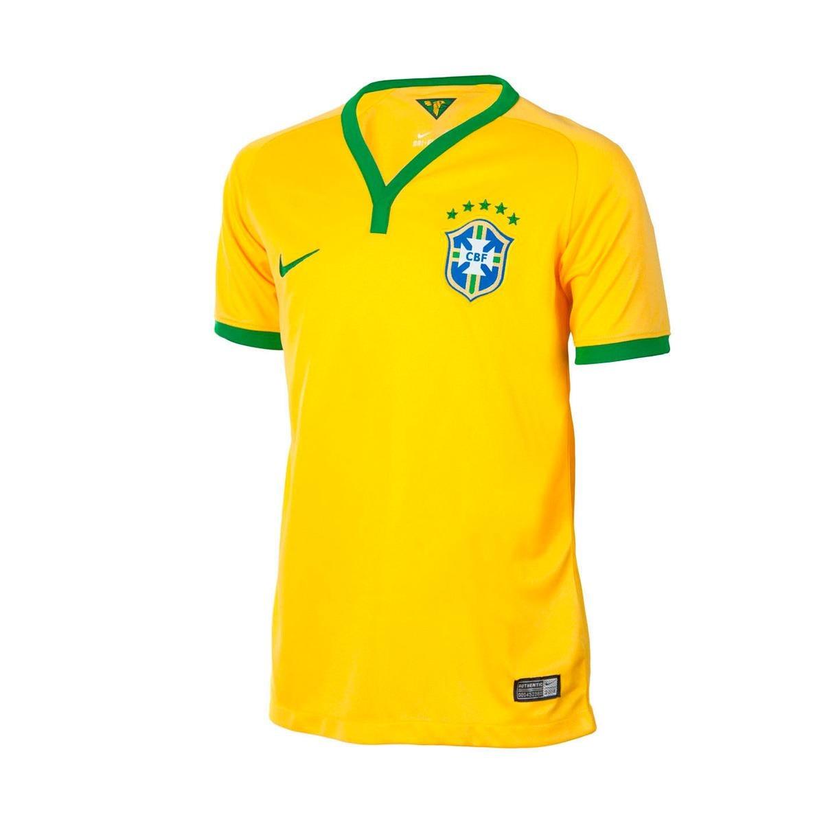 camisa oficial nike brasil cbf 2014 torcedor g. Carregando zoom. 17238b78a2320
