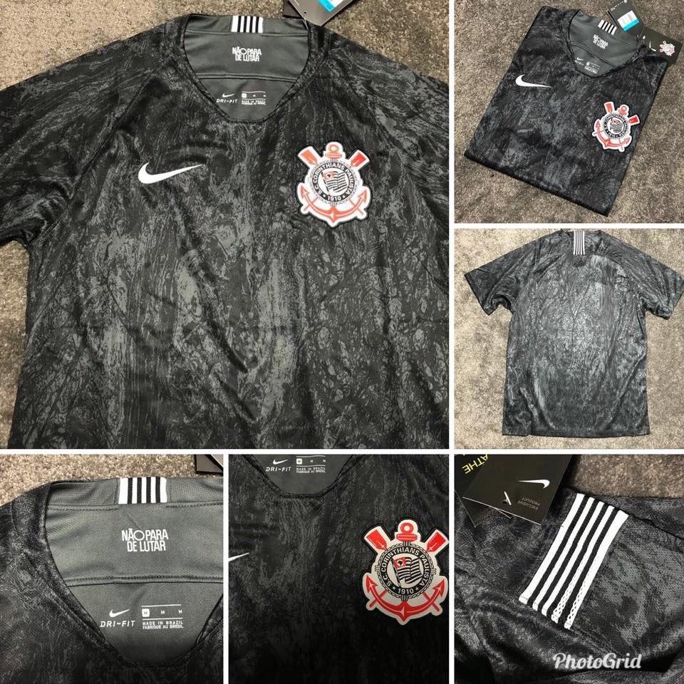 Camisa Oficial Nike Corinthians Temporada 2018 Uniforme 2 - R  119 ... b7068bbd66d3e