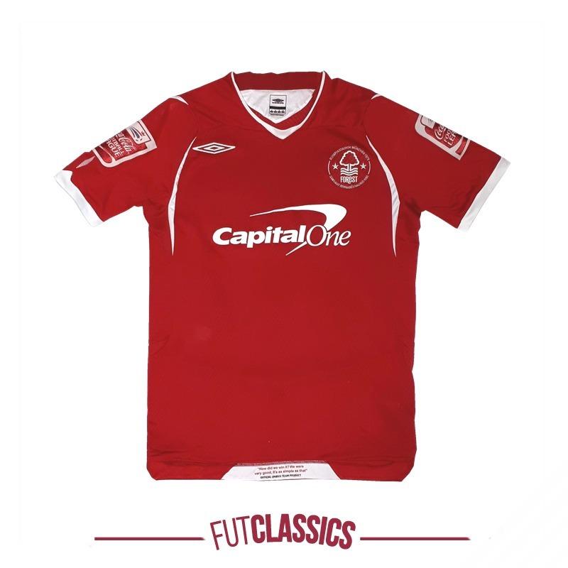camisa oficial nottingham inglaterra 2008 home umbro tam p. Carregando zoom. 0cb37fe51e71e