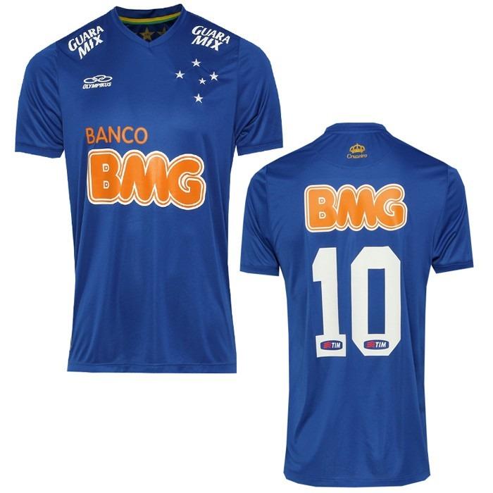 Camisa Oficial Olympikus Cruzeiro I 2014 N° 10 - R  99 2aa972e4b8e86