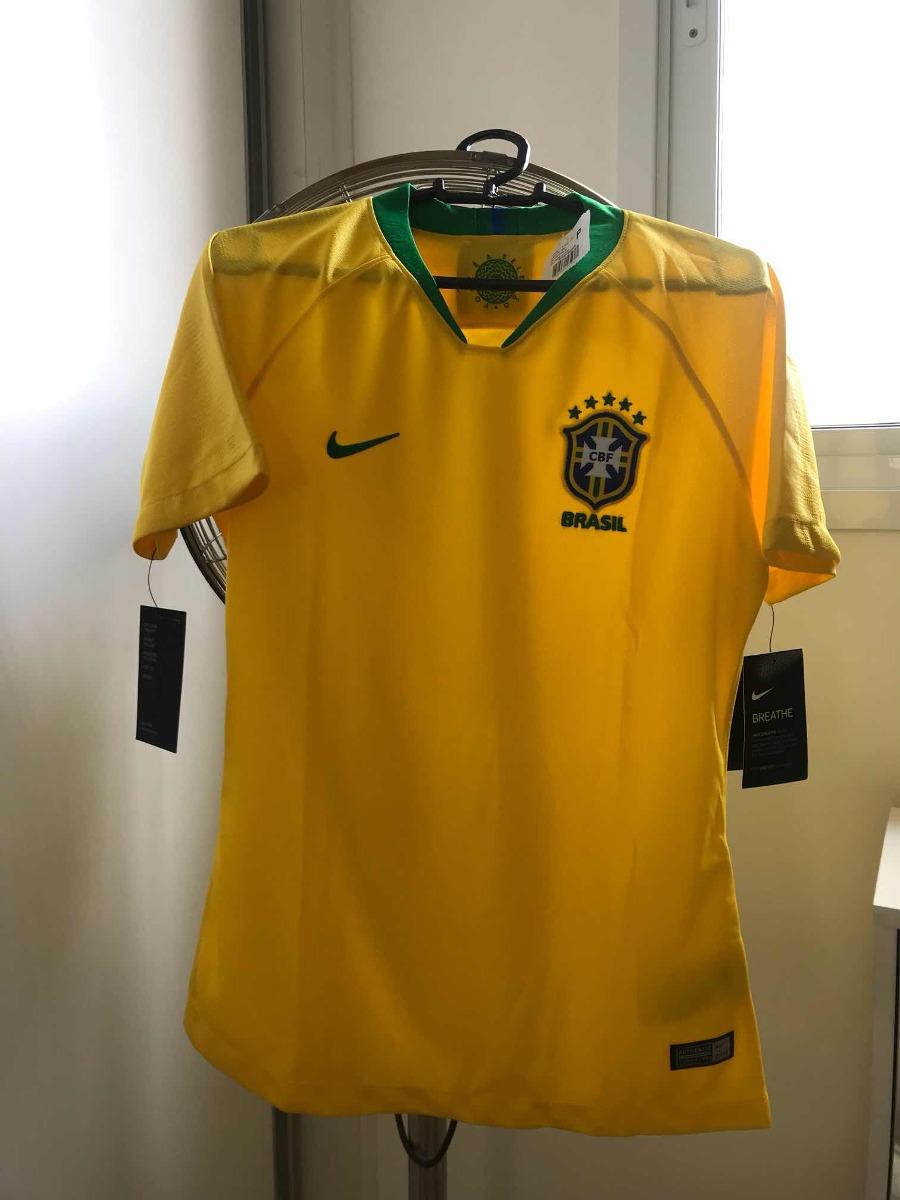 camisa oficial original feminina baby look 2018 futebol nike. Carregando  zoom. c2f48db9c83c0