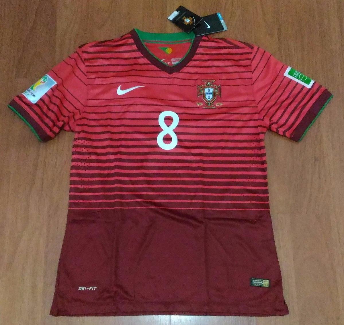fb863a222a camisa oficial portugal copa do mundo 2014 nº8 m j. moutinho. Carregando  zoom.