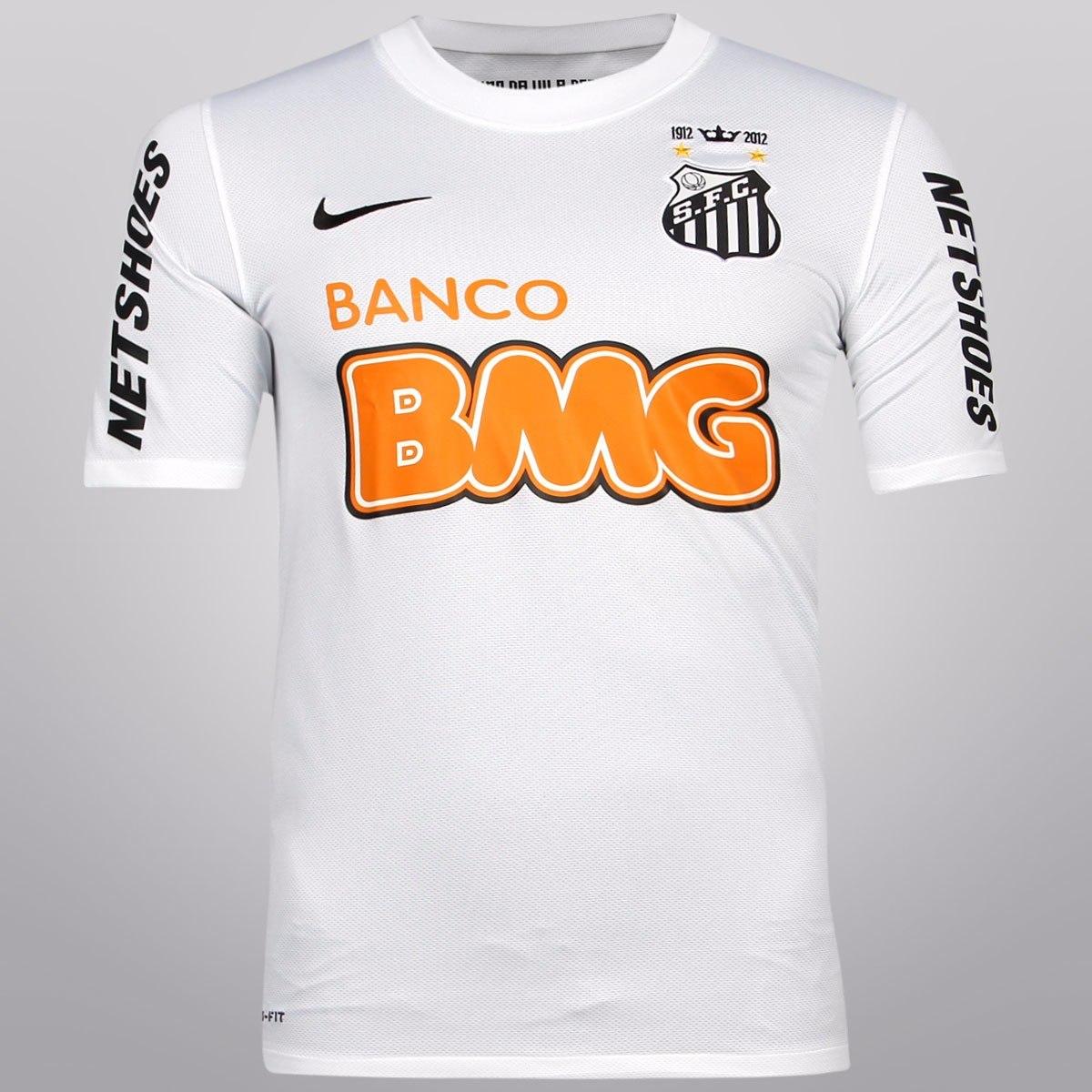 9f563f8eab camisa oficial santos 2011 2012 nike autentica promoção. Carregando zoom.