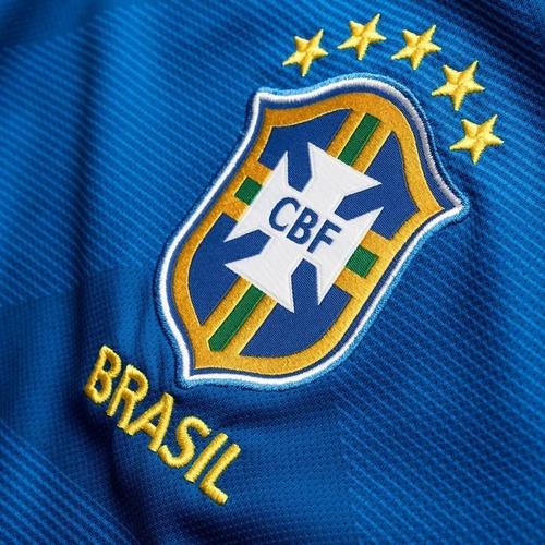 Camisa Oficial Seleção Brasileira Azul Reserva Nike Original - R ... 2a16f5c9d73af