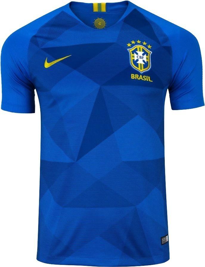 Camisa Oficial Seleção Brasileira Azul Reserva Nike Original - R ... eff0e89e8f8
