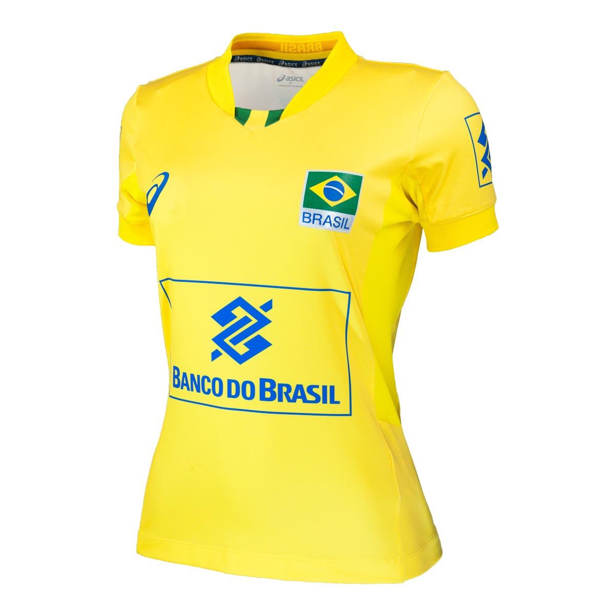 f473d209432 camisa oficial seleção brasileira volei - asics f original. Carregando zoom.