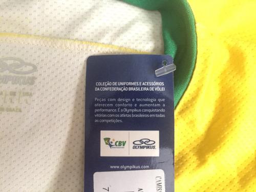 camisa oficial seleção de vôlei autografada pelo maurício