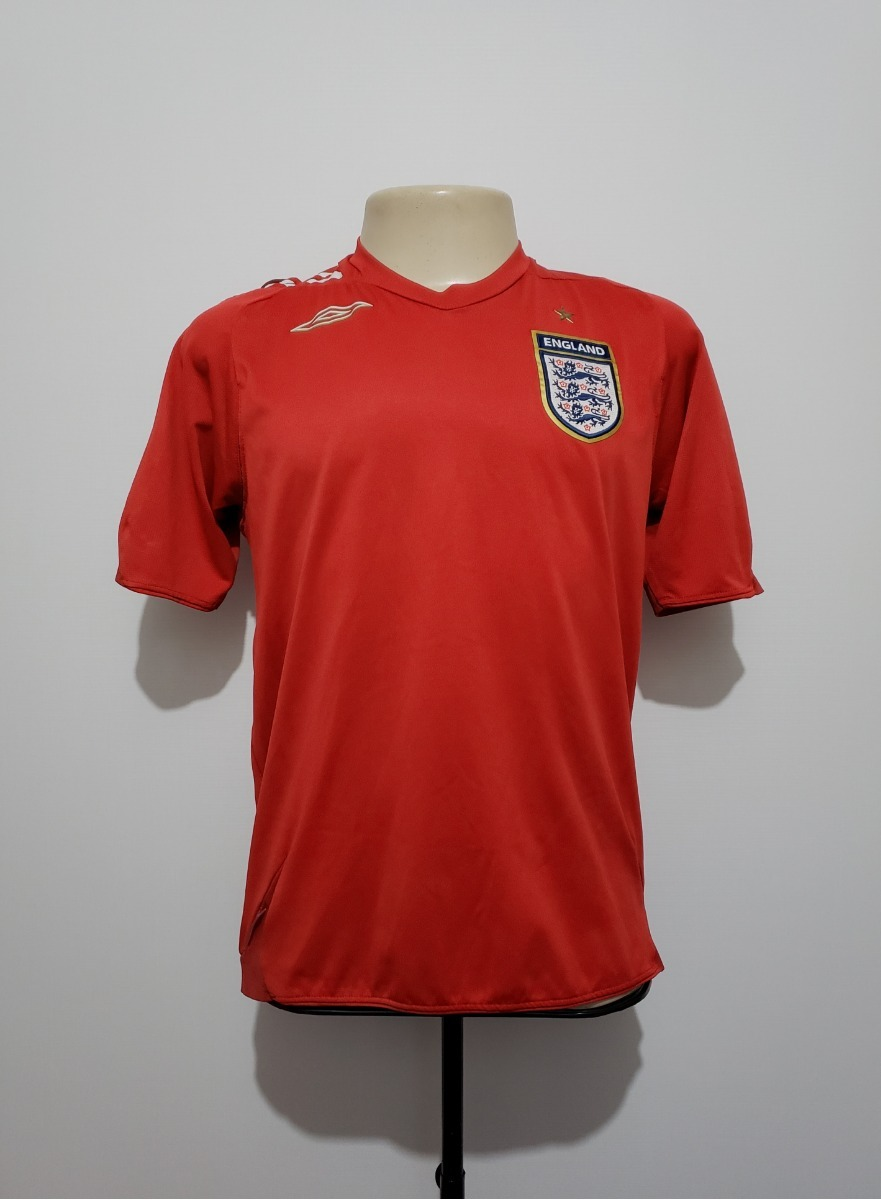 camisa oficial seleção inglaterra 2006 away umbro tam p. Carregando zoom. 48bdcefe9519a