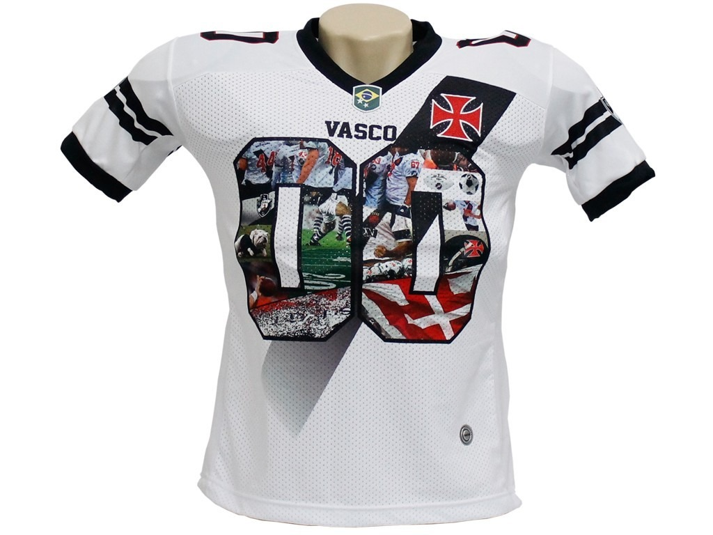 camisa oficial vasco da gama futebol americano traktor. Carregando zoom. edfafad2991ba