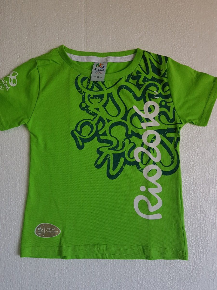 ... camisa olimpiadas jogos rio 2016 logomarca brasil infantil. Carregando  zoom. 4336ff28027f8