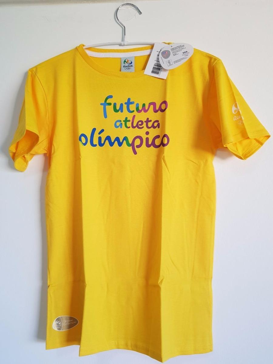 camisa olimpiadas rio 2016 brasil infantil atleta jogos espo. Carregando  zoom. daab939a23275