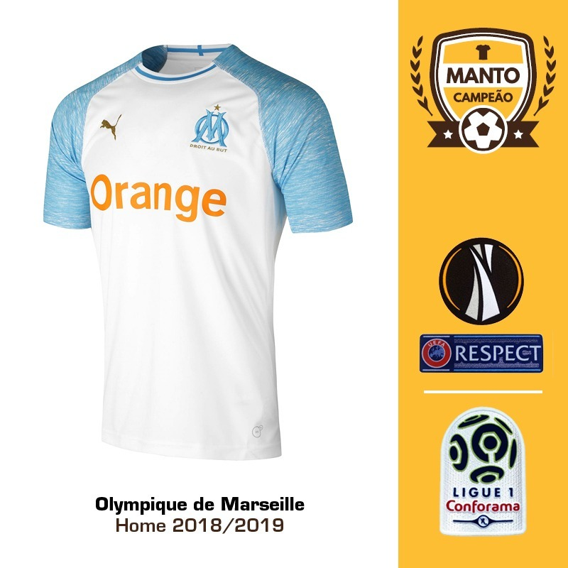 6b826e783 Camisa Olympique De Marseille 18 19 Home Uniforme 1 Payet - R  125 ...