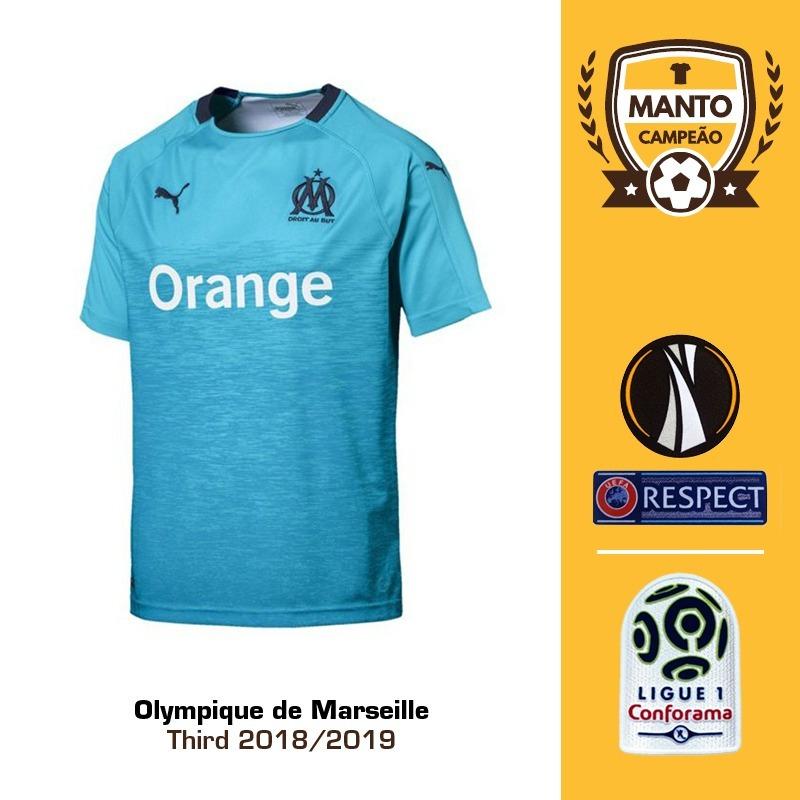 3468b1d2c Camisa Olympique De Marseille 18 19 Third Uniforme 3 Payet - R  125 ...