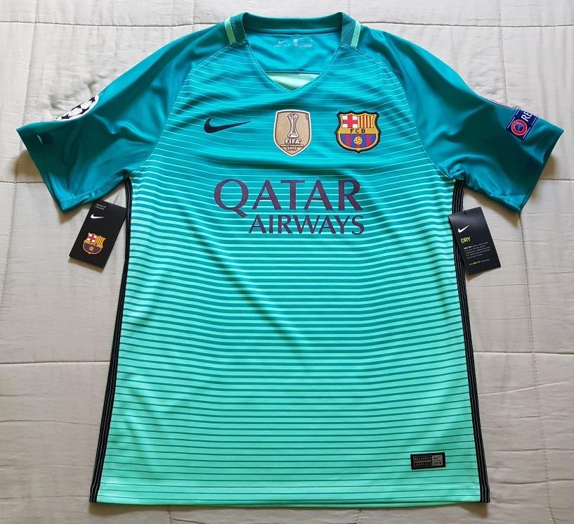 camisa original barcelona third 2016 2017 ucl e fifa 2015. Carregando zoom. cd691f06522bf
