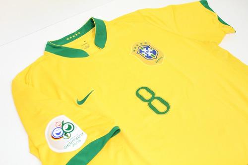 camisa original brasil 2006 home #8 kaká
