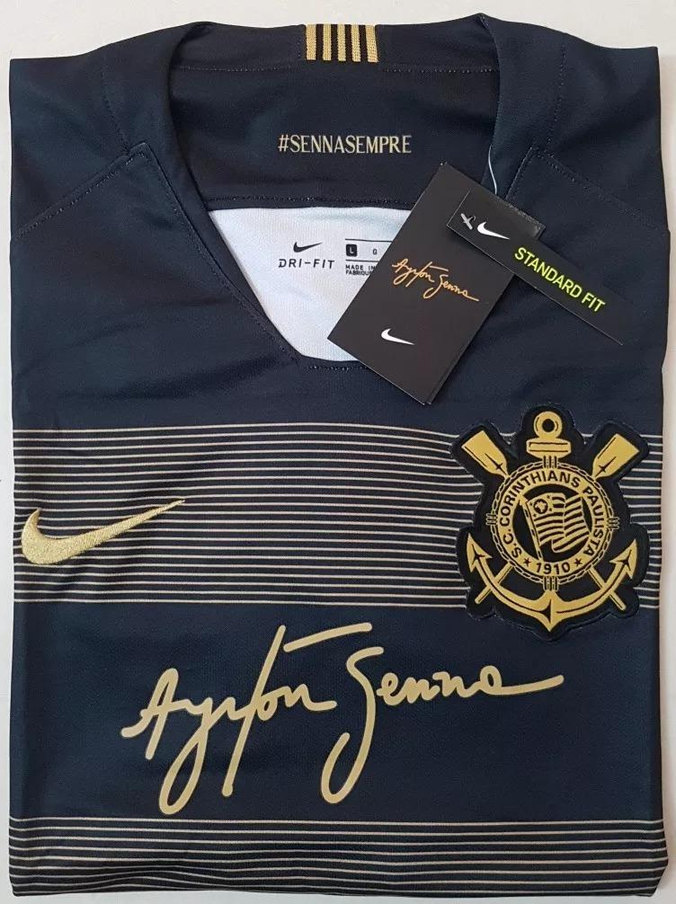 camisa original corinthians senna 2018 (third) promoção. Carregando zoom. 582f6f49044f0