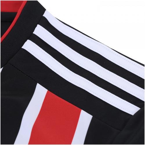 camisa original do são paulo branca listrada tricolor nova