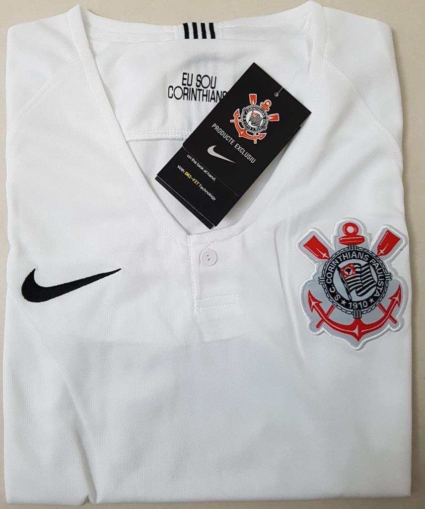 camisa original feminina corinthians 2018 (home). Carregando zoom. 3ae508db751c3