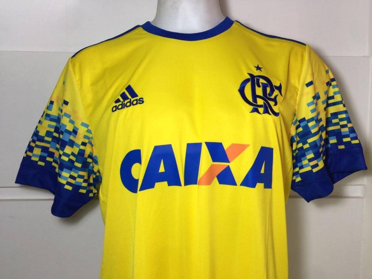 Camisa Original Flamengo adidas 2017 Amarela Com Patrocinio - R  152 ... 59d1dab427763